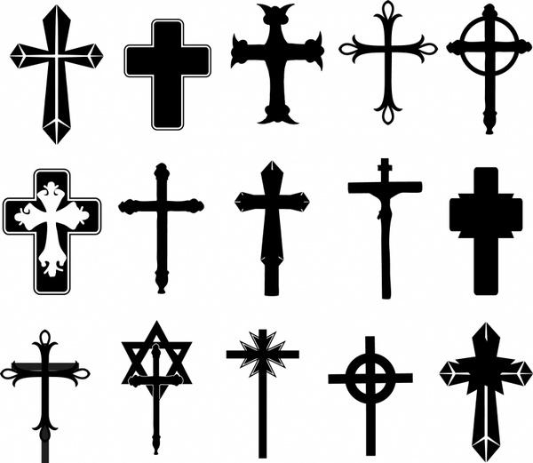 Cross symbols Free vector in Adobe Illustrator ai ( .AI