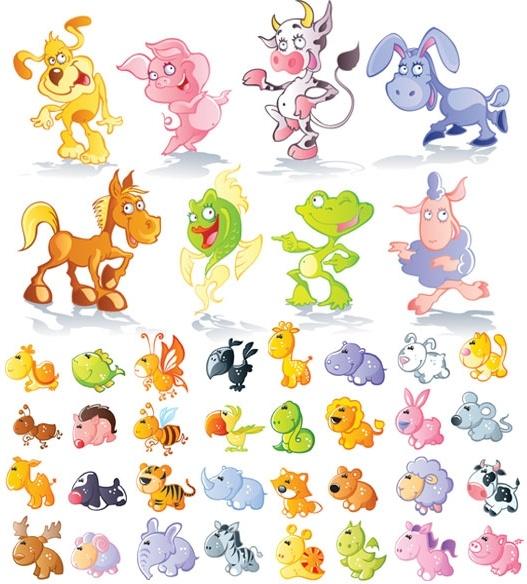 Cute Cartoon Animals Vector Free Vector In Encapsulated Postscript Eps Eps Vector Illustration Graphic Art Design Format Format For Free Download 854 27kb