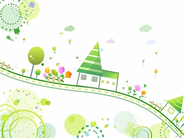 Cute Style Background Vector Illustration