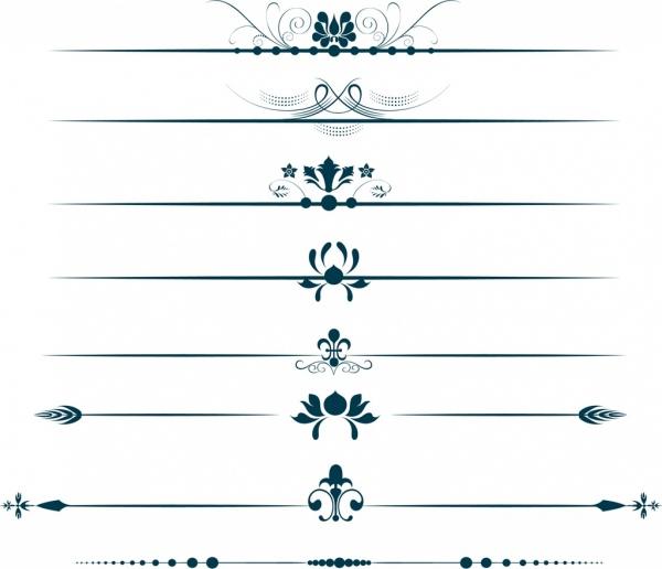 decorative symbols design elements