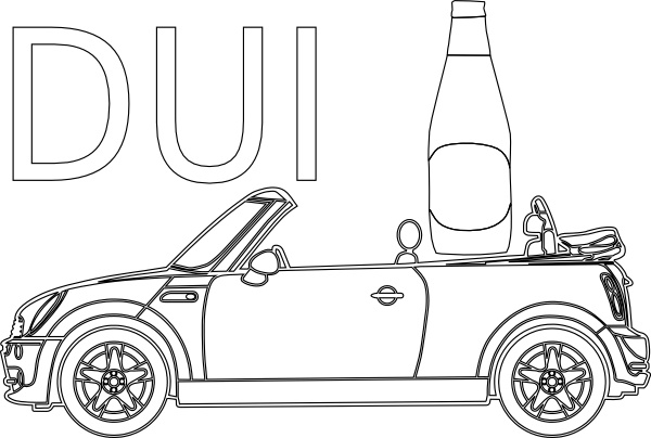 Dui Driving Under Infleunce Outline clip art Free vector