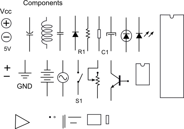 Electronic Components clip art Free vector in Open office