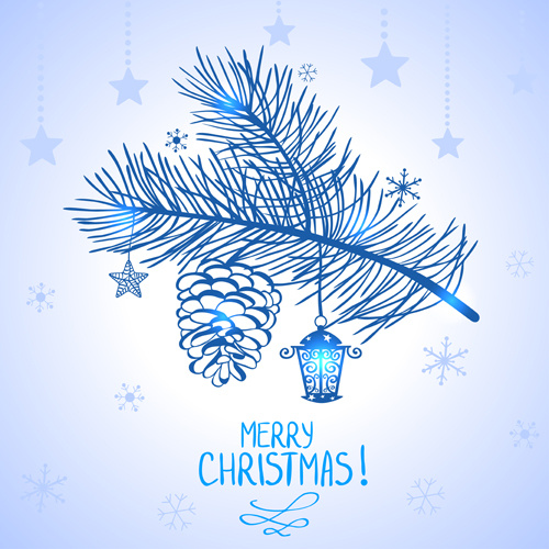 elegant merry christmas blue backgrounds