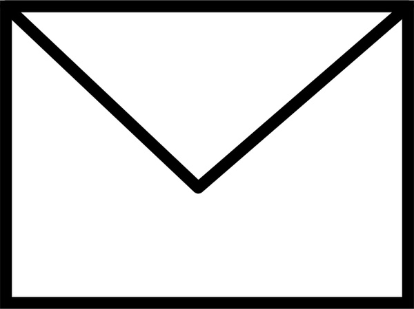 Envelope Closed B&W Free vector in Open office drawing svg