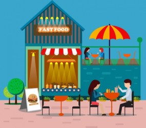 restaurant drawing fast food outdoor clipart vector colorful cartoon icon icons illustration 66mb graphic