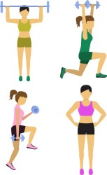 Female fitness icons various types in color design Free vector in Adobe Illustrator ai ai format Encapsulated PostScript eps eps format format for free download 1 73MB