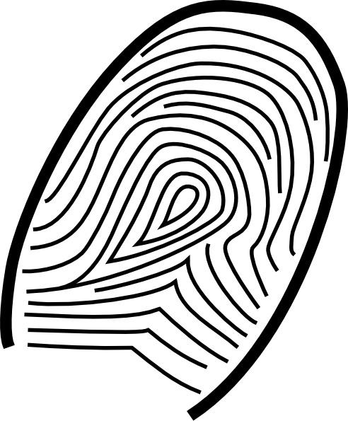 Fingerprint clip art Free vector in Open office drawing