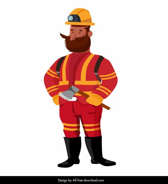 fireman icon standing gesture