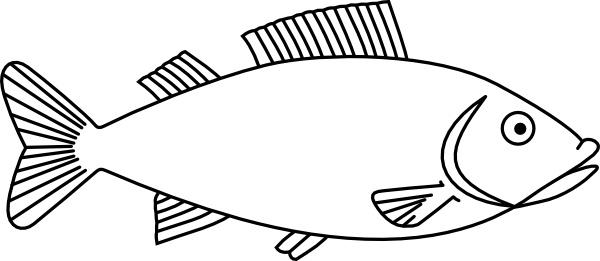 fish outline clip art