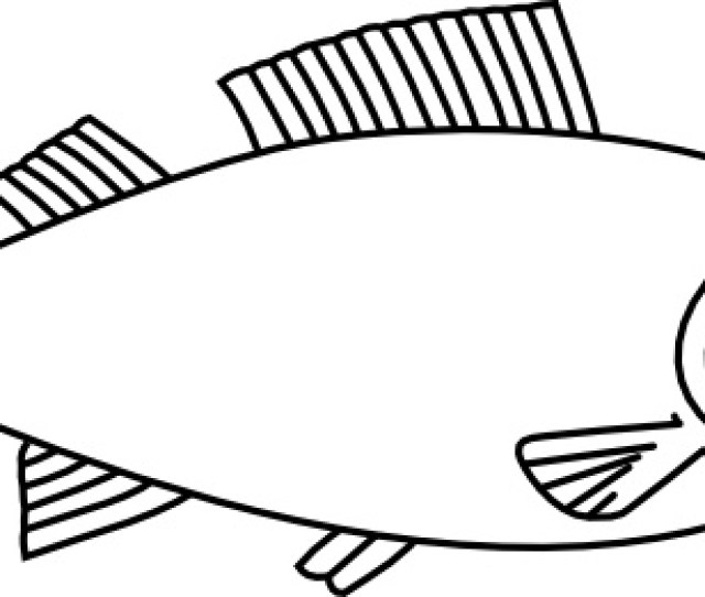 Fish Outline Clip Art Free Vector In Open Office Drawing Svg Svg