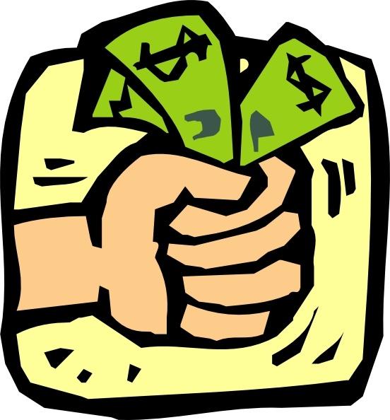 Fist Full Of Money clip art