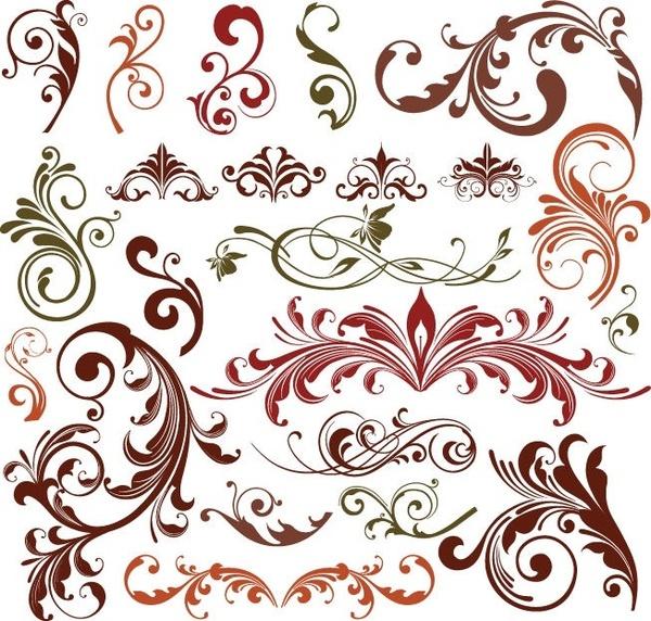 Floral Design Elements Vector Set Free Vector In Encapsulated Postscript Eps Eps Vector Illustration Graphic Art Design Format Format For Free Download 679 25kb