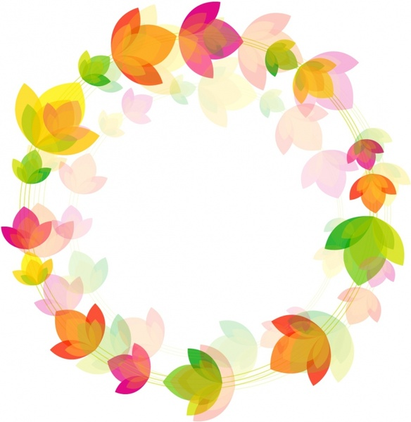 flower circle background free