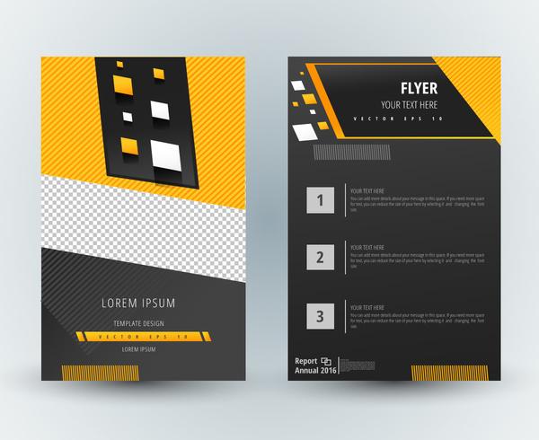 flyer template design with modern dark