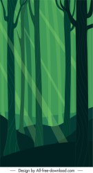 Forest background dark green classic flat design Free vector in Adobe Illustrator ai ai format Encapsulated PostScript eps eps format format for free download 1 78MB