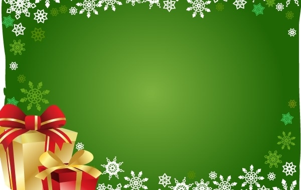 FREE VECTOR CHRISTMAS GIFT AND BACKGROUND Free Vector In