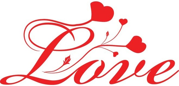Download Free vector love script font with heart shape Free vector ...