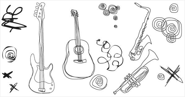 Free vector musical instruments Free vector in Adobe