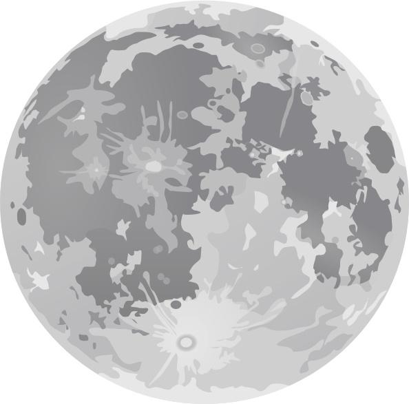 full moon clip art free vector