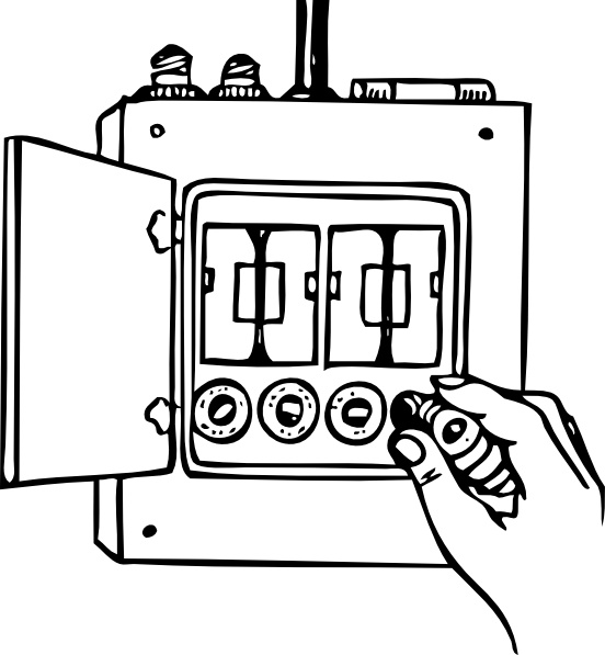 Fuse Box clip art Free vector in Open office drawing svg