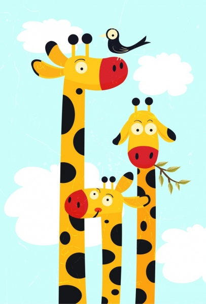 Cute Elephant Cartoon Wallpapers Giraffe Free Vector Download 256 Free Vector For