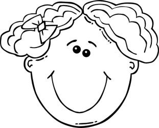 Girl Face Cartoon Outline clip art Free vector in Open office drawing svg svg vector illustration graphic art design format format for free download 131 06KB