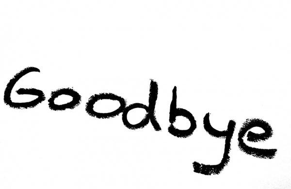 Goodbye inscription Free stock photos in JPEG (.jpg