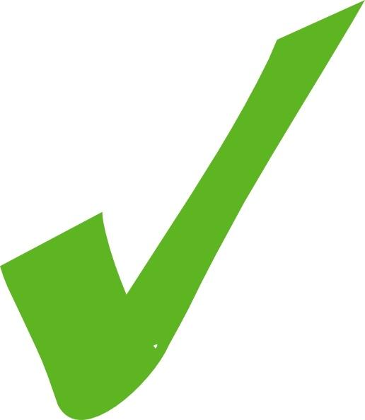 green check mark clip art free