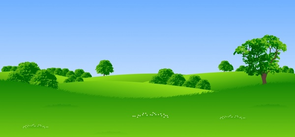 green trees landscape vector free