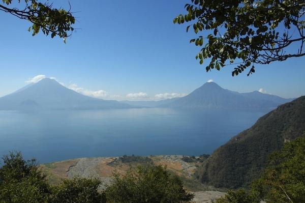 guatemala landscape lake free stock