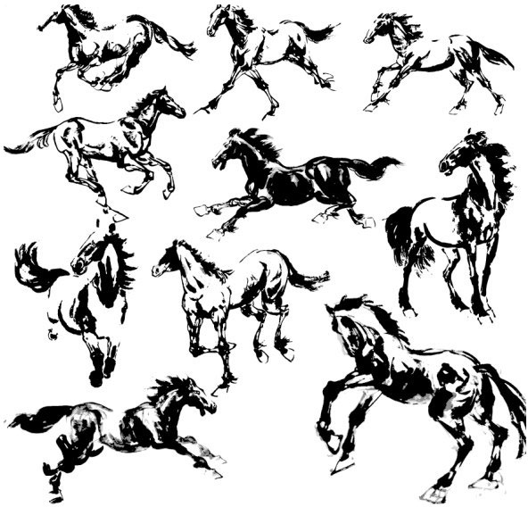 Vector horse free vector download (848 Free vector) for