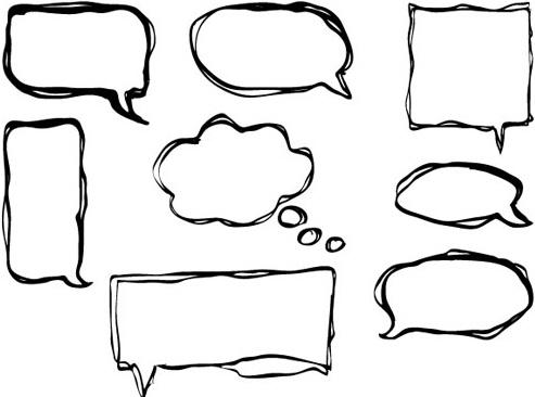 Hand drawn speech bubbles creative vector Free vector in