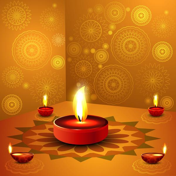 Diya Wallpaper Hd Happy Diwali Background Free Vector In Encapsulated