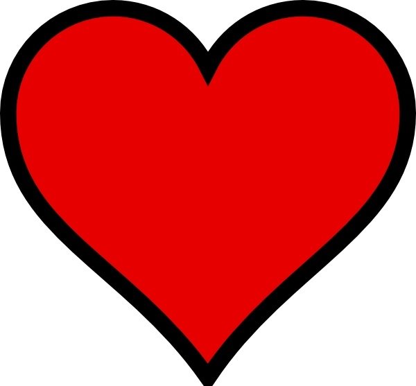 heart clip art free vector in open