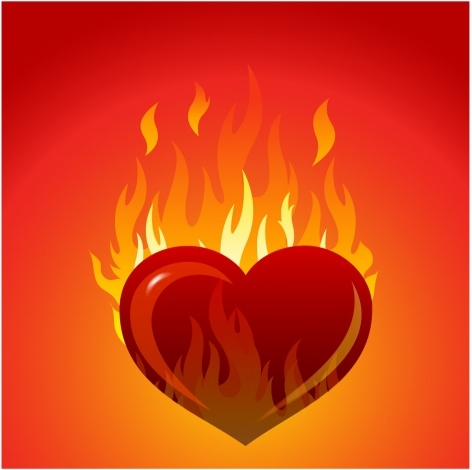 heart with flames free