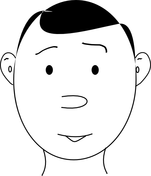 Human Face Outline clip art Free vector in Open office