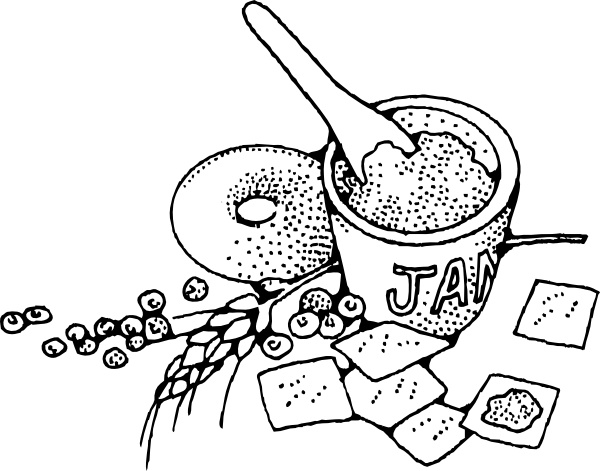 Jam And Crackers clip art Free vector in Open office