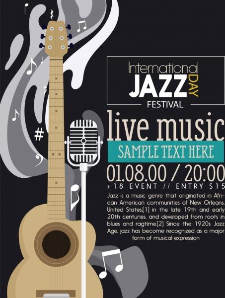jazz festival banner guitar
