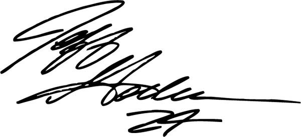Jeff Gordon Signature Free Vector In Encapsulated