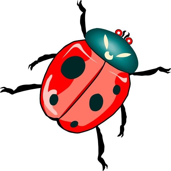lady bug clip art free vector