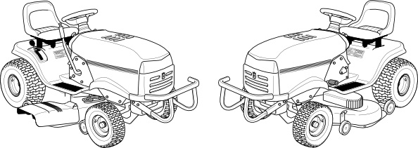 Lawn Mower clip art Free vector in Open office drawing svg