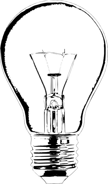 Lightbulb clip art Free vector in Open office drawing svg