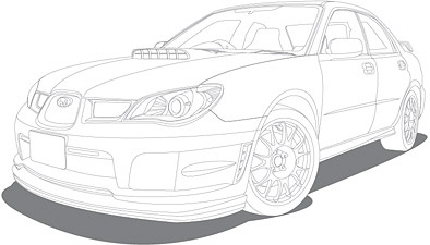 Line drawing vehicle car vector Free vector in Adobe