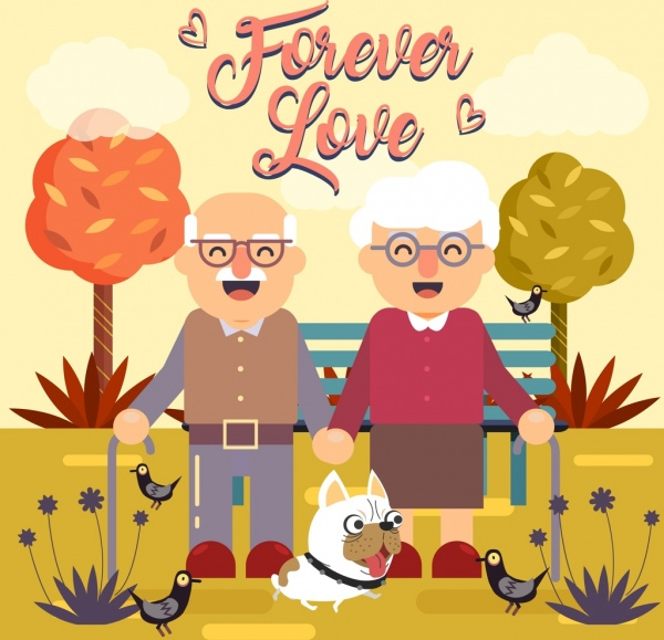 love background old couple