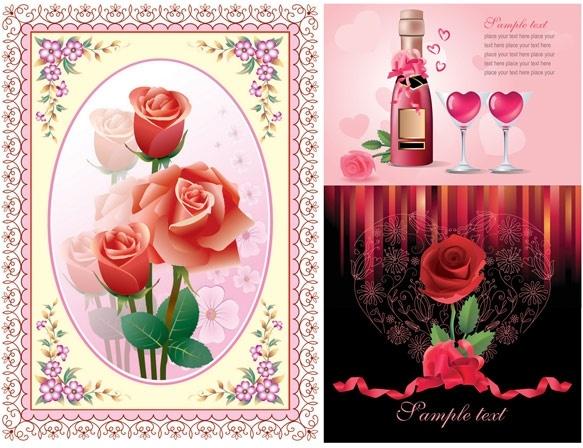 Love Rose Heart Wallpaper Free Vector 10 926