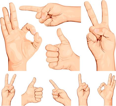 man hand gestures vector