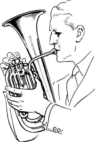 Man Playing Alto Horn clip art Free vector in Open office