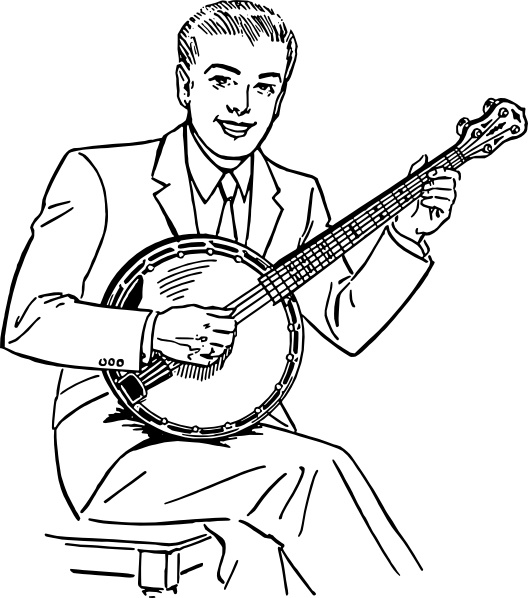 Man Playing Banjo clip art Free vector in Open office