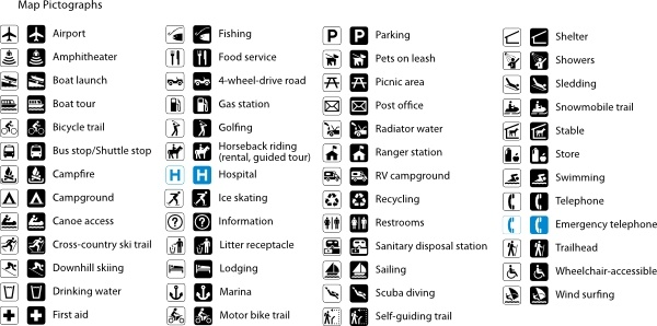 Map Symbol Gallery clip art Free vector in Open office