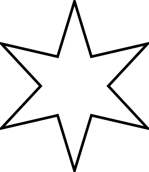Marian Star clip art Free vector in Open office drawing